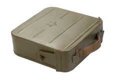 Ammo case on white Stock Photo