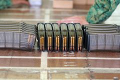 Ammo Clip. Loaded with bullets royalty free stock image