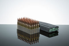 .223 ammo 50 count Stock Photography