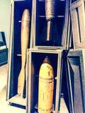 Ammo för världskrig II bombarderar, artilleri och flygammunitionar Arkivfoton
