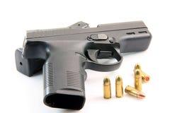 Ammo and handgun Stock Image