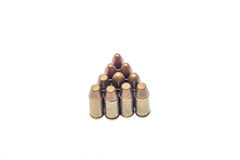 Ammo isolated on white. Killing magazine semiautomatic shot  target Stock Images
