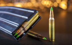 Ammo and magazine for an AR-15 Stock Images