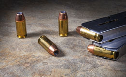 Ammo and magazines Stock Images