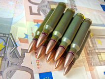 Ammo and money Royalty Free Stock Photo