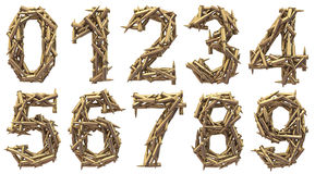 Ammo number. Ammo reflection number set isolated Royalty Free Stock Image