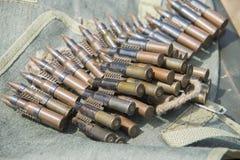 ammo till maskingevär Royaltyfri Bild