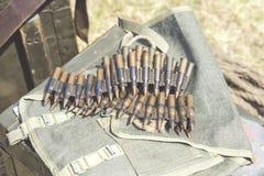 Ammo to machine guns Royalty Free Stock Image