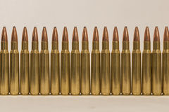Ammo wall unfired Royalty Free Stock Images