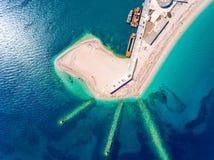 Ammoglossastrand dichtbij de Stad van Lefkada in het Eiland Griekenland van Lefkada Royalty-vrije Stock Foto