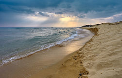 Ammolofi beach Royalty Free Stock Photos
