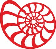 Ammonit. Shell ammonite. in vector graphics. Shell of an ancient mollusk. Ammonites Latin Ammonoidea is an extinct subclass of cephalopod mollusks that existed Stock Photos