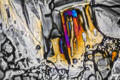 Ammonium sulfate microcrystals. Microscopic shot  showing Ammonium sulfate crystals illuminated with polarized light Stock Photos