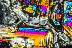 Ammonium sulfate microcrystals. Microscopic shot  showing Ammonium sulfate crystals illuminated with polarized light Stock Photo
