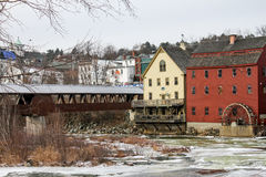 Ammonoosuc-Fluss in Littleton, NH Stockbilder