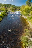 Ammonoosuc River. As it flows through Littleton New Hampshire Stock Image