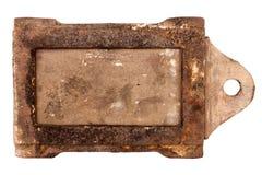 Ammortizzatore d'annata arrugginito della stufa fotografia stock