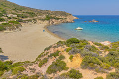 Ammoudaraki beach, Milos island, Greece Royalty Free Stock Photos