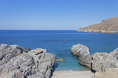 Ammoudi beach, south Crete Stock Photos