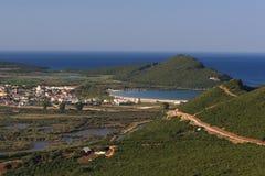 ammoudia Греция северная стоковая фотография