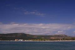 ammoudia nordliga greece Arkivfoto