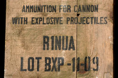 Ammunition. An old box of USA army (II War Royalty Free Stock Image