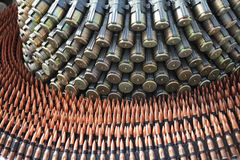 Ammunition. Assorted cartridges and bullets Royalty Free Stock Images