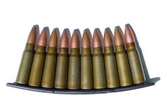 Ammunition. Of rifled carabine, canon eos 400d Royalty Free Stock Image