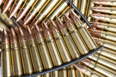 Ammunition. Stripper clips of assault rifle bullets Royalty Free Stock Images
