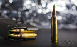 Ammunition for an AR-15 Stock Photos