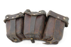 Ammunition bag to German Mauser rifle Royalty Free Stock Photo