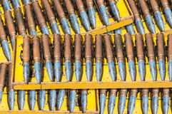 Ammunition belt ,chain of cartridges war Royalty Free Stock Photography
