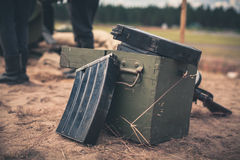 Ammunition box Royalty Free Stock Image