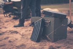 Ammunition box Royalty Free Stock Photo