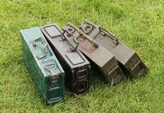 Ammunition Bullet Cases. Royalty Free Stock Photo