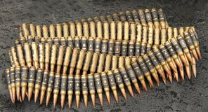 Ammunition Bullets. Royalty Free Stock Photos