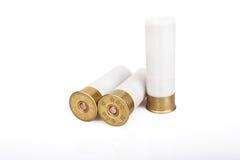 Ammunition bullets isolated on white Royalty Free Stock Image