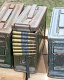 Ammunition Containers. Stock Photo