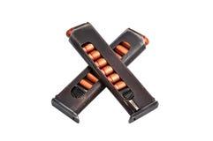 ammunition fäster två ihop Arkivfoton