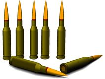 Ammunition for a rifle Royalty Free Stock Images