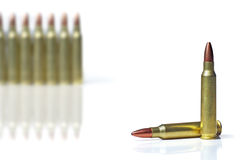 Ammunition for rifles Stock Images