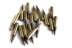 Ammunition for rifles Royalty Free Stock Photos