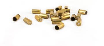 Ammunition shell 9 mm. Old 9 mm.  ammunition shell on white background Stock Photography