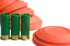 Ammunition for shotgun shooting Royalty Free Stock Images