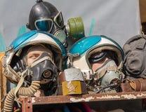 Ammunition Soviet pilots at the flea market Stock Photos