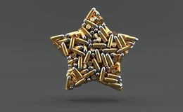 Ammunition in star shape royalty free illustration
