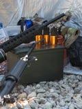 Ammunition to arms closeup Stock Photos