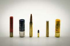 Ammunition of various calibers Royalty Free Stock Image