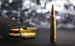 Ammunitionar för en AR-15 Arkivfoton