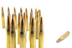 Ammunitionar för gevär Arkivfoto